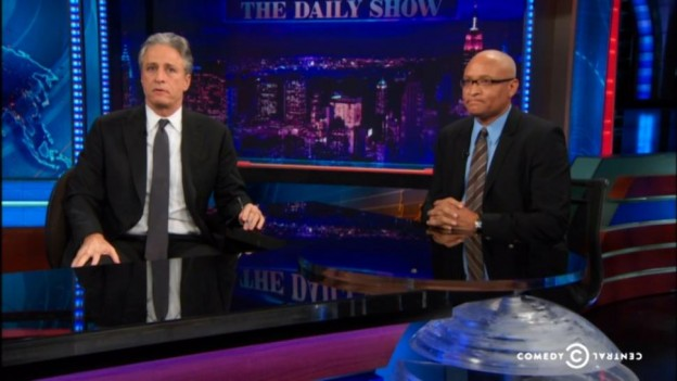 Jon Stewart and Larry Wilmore